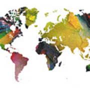 New World Map Art Print