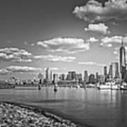 New World Trade Center Bw Art Print