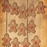 New Year Gingerbread Art Print