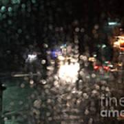 New Year Heavy Rainstorm 2015 Art Print