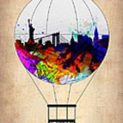 New York Air Balloon Art Print