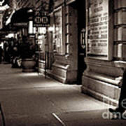 New York At Night - The Phone Call - Theatre District Art Print