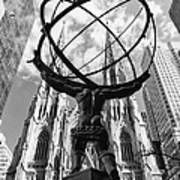 New York - Atlas Statue Art Print