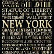 New York Attractions Art Print