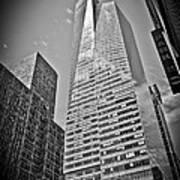 New York - B And W Hdr Bank Of America Art Print