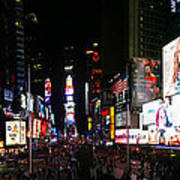 New York - Broadway And Times Square Art Print