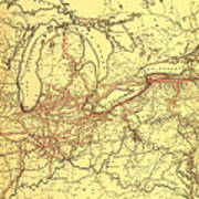 New York Central And Hudson River Railroad 1900 Art Print
