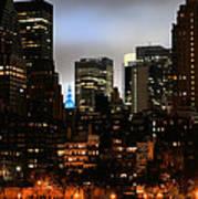 New York City Blue Art Print