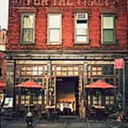 New York City - Cafe In Tribeca Art Print