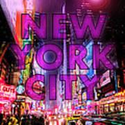 New York City - Color Art Print