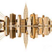 New York City Landmarks - Usa Art Print
