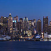 New York City Panorama At Dusk Art Print