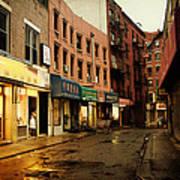 New York City - Rainy Afternoon - Doyers Street Art Print