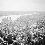 New York City Skyline - Foggy Day Art Print