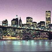 New York City Skyline Art Print by Jon Neidert