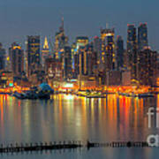 New York City Skyline Morning Twilight Xii Art Print