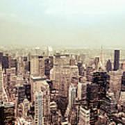 New York City - Skyline On A Hazy Evening Art Print by Vivienne Gucwa