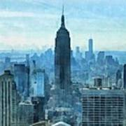 New York City Skyline Summer Day Art Print