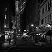 New York City Street - Night Art Print by Vivienne Gucwa
