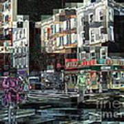 New York City Streets - Ritz Diner Art Print