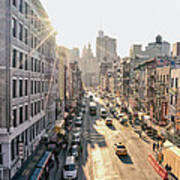 New York City - Sunset Above Chinatown Art Print