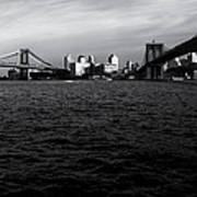 New York City - Two Bridges Art Print
