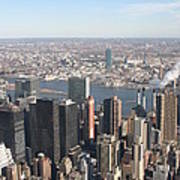 New York City - View From Empire State Building - 121218 Art Print by DC Photographer