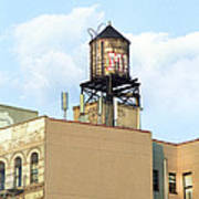 New York City Water Tower 4 - Urban Scenes Art Print