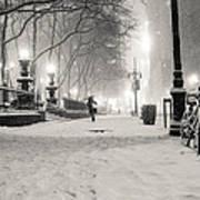 New York City Winter Night Art Print