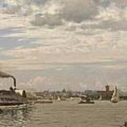 New York Harbor From Bedloe's Island Art Print