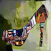 New York In A Shoe Art Print