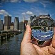 New York In My Hand - Sferic Manhattan II Art Print