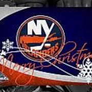 New York Islanders Christmas Art Print