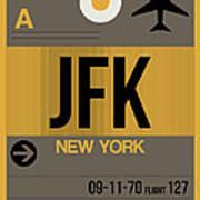 New York Luggage Tag Poster 3 Art Print