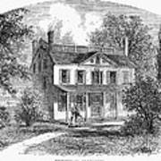 New York: Mansion, 1763 Art Print
