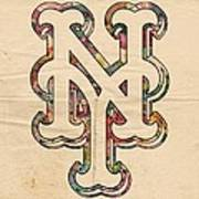 New York Mets Poster Art Art Print