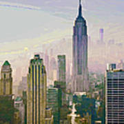 New York Misty Morning Art Print