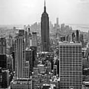 New York Moody Skyline  Art Print