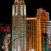 New York-new York Hotel Las Vegas - Pop Art Style Art Print