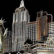 New York New York In Las Vegas Art Print