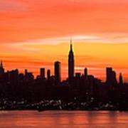 New York November Dawn Art Print