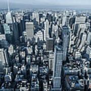 New York Panoramic View From Empire Art Print