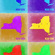 New York Pop Art  Map 3 Art Print