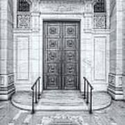 New York Public Library Entrance II Art Print