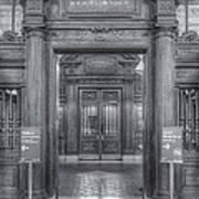 New York Public Library Main Reading Room Entrance II Art Print