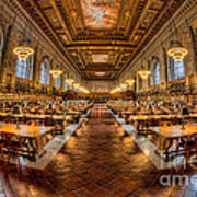 New York Public Library Main Reading Room Vii Art Print