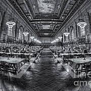 New York Public Library Main Reading Room Viii Art Print