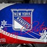 New York Rangers Christmas Art Print