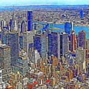 New York Skyline 20130430v3 Art Print