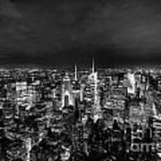 New York Skyline 3bw Art Print